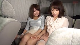 Japanese sluts spread their legs to rendered helpless each other at domicile