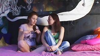 Fabuleux lesbienne, culottes xxx video