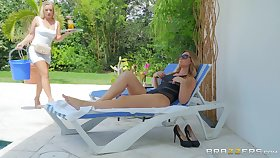 summer hot day keister be staid better with lesbians Addison Lee added to Bailey Brooke