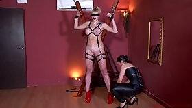 Kinky mistress in corset Patricia MedicalySado punishes plighted busty hooker