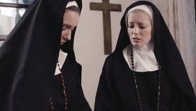 Profane nuns Mona Wales added to Serene Siren crave for wet pussy