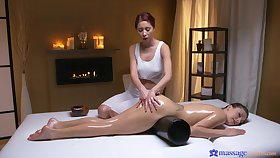 Erotic nance fucking on a catch massage table with Talia Unused